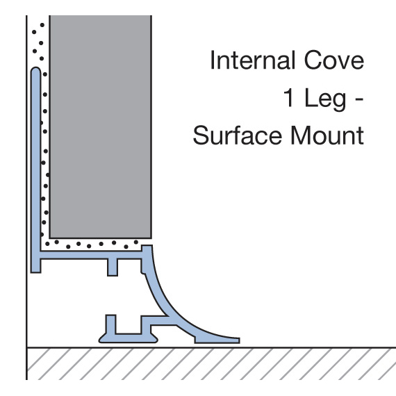 Internal Cove 1 Leg - Surface Mount